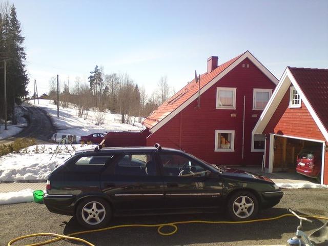 Har vaska 5000 kroners bilen i dag!