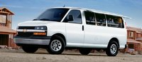 2011 Chevrolet Express, Front Left Quarter View, exterior, manufacturer
