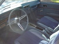 1975 Buick Skylark, The S/R came standard with the buckets, floor shift, console, and the GS style steering wheel, along with special sway bars, and suspension settings. , interior