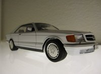 1991 Mercedes-Benz 560-Class 2 Dr 560SEC Coupe, Plastic from Tamiya. Hand built. Custom paint MB code 147., exterior