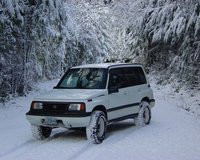 1992 Suzuki Sidekick 4 Dr JX 4WD SUV, Opal Creek area fun in the snow, exterior