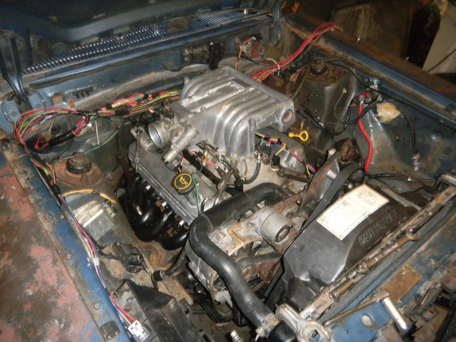 1981 Ford Fairmont, The 302 HO I am putting into my car. The AC and smog pump is elminated. It has MAC equal length shorty headers. The egr is elminated. A wiring harness from RJM injection technologi...