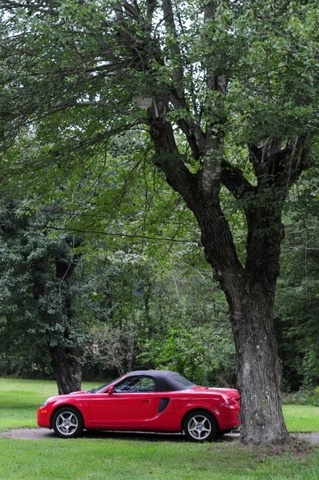 Our MR2 Spyder in our yard. ^_^