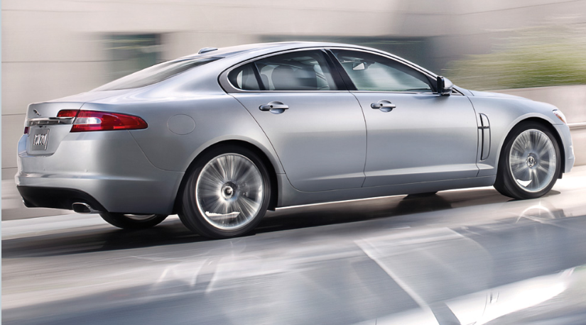 2009 Jaguar XF, side view, manufacturer, exterior