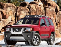 2011 Nissan Xterra, front three quarter view, manufacturer, exterior