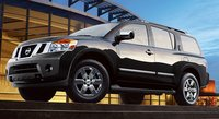 2011 Nissan Armada, front three quarter view , manufacturer, exterior