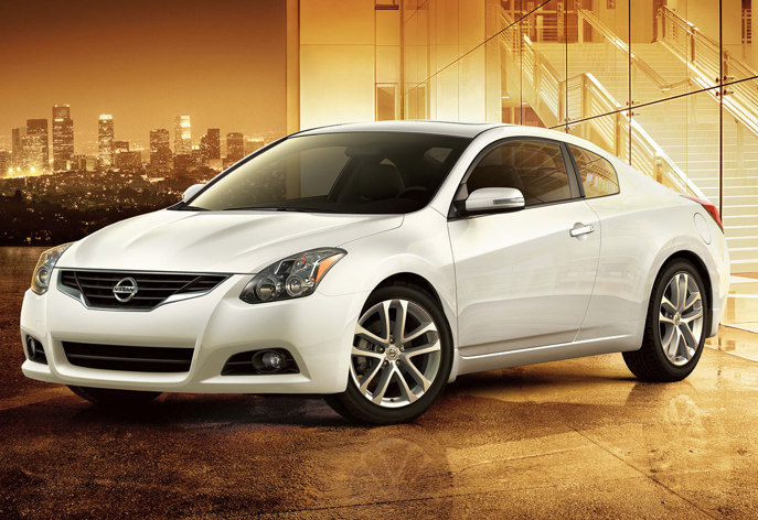 2011 Nissan Altima Coupe, front three quarter view , manufacturer, exterior