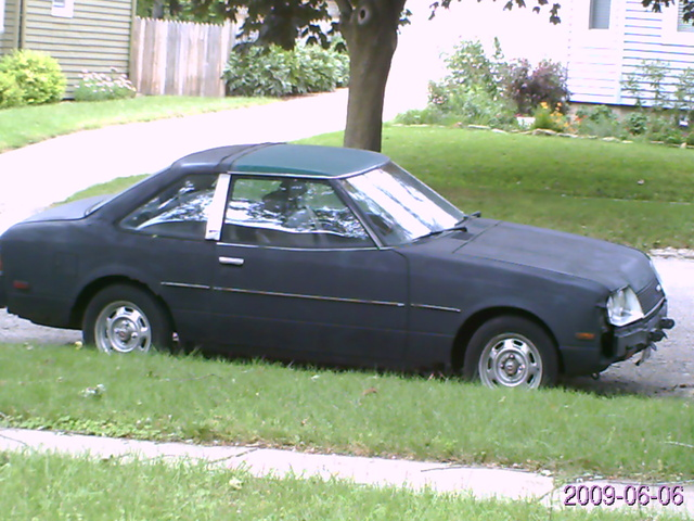 1979 Toyota Celica ST coupe, hot rod black, exterior, gallery_worthy