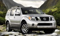 2011 Nissan Pathfinder, front three quarter view , manufacturer, exterior