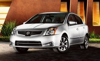 2011 Nissan Sentra, front three quarter view , exterior, manufacturer