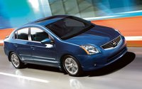 2011 Nissan Sentra, front three quarter view , manufacturer, exterior