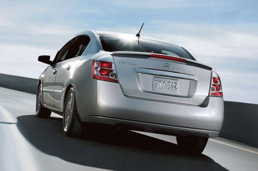 2011 Nissan Sentra, back three quarter view , exterior, manufacturer