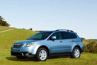 2011 Subaru Tribeca, front three quarter view , exterior, manufacturer