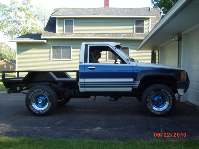 1988 Toyota Pickup, The front fenders got cleaned up bondoed and painted., exterior, gallery_worthy