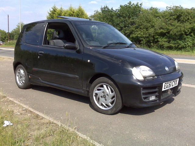 2002 FIAT Seicento, Looks slightly lower, only 30mm drop cause i don't want to scrape anything., exterior, gallery_worthy