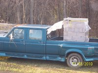 1997 Ford F-350 4 Dr XLT Crew Cab LB, my dad's awesome f-350 with a load, exterior