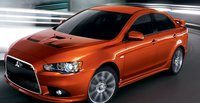 2011 Mitsubishi Lancer, front three quarter view , manufacturer, exterior