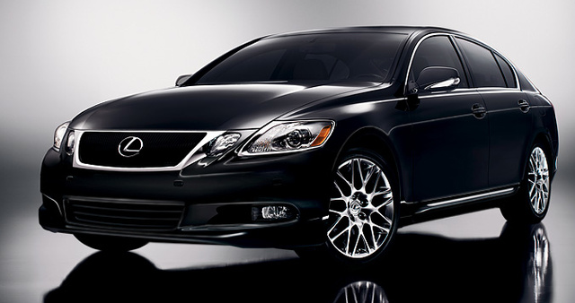 2011 Lexus GS 350; front quarter view.