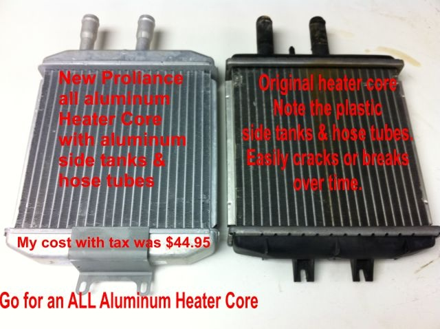 What does it cost to repair a heater core?