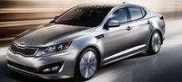 2011 Kia Optima, Front quarter view in motion. , manufacturer, exterior