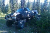 1992 Dodge Dakota Sport Club Cab 4WD, Almost flexd out. Backed up that far in 2wd :-), exterior, gallery_worthy