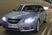 2011 Saab 9-5, Three quarter view in motion. , manufacturer, exterior