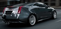 2011 Cadillac CTS-V Coupe, Rear quarter view. , exterior, manufacturer