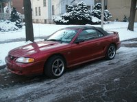 1994 Ford Mustang GT Convertible, 1994 Ford Mustang 2 Dr GT Convertible picture with old wheels, exterior