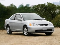 2003 Honda Civic Coupe EX, Front End Stock Photo, exterior