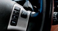 2010 Chevrolet Malibu, Close-up of steering wheel controls. , manufacturer, interior