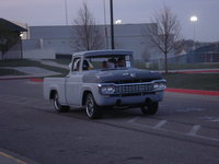 1958 Ford F-100, burn outs at school , exterior