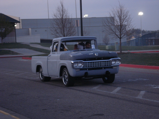 1958 Ford F-100, burn outs at school , exterior, gallery_worthy