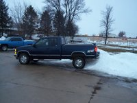 1996 Chevrolet C/K 1500 Ext. Cab 6.5-ft. Bed 4WD, me backing over a snow pile at my local subway parking lot!!, exterior