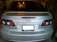 2006 Mazda MAZDA6 i Sport 4dr Hatchback, rear end spolier and dual exhaust, exterior, gallery_worthy