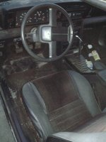 1985 Dodge Daytona, my dirty interior on the big black beast, at least it isn't covered in cow shit anymore, interior