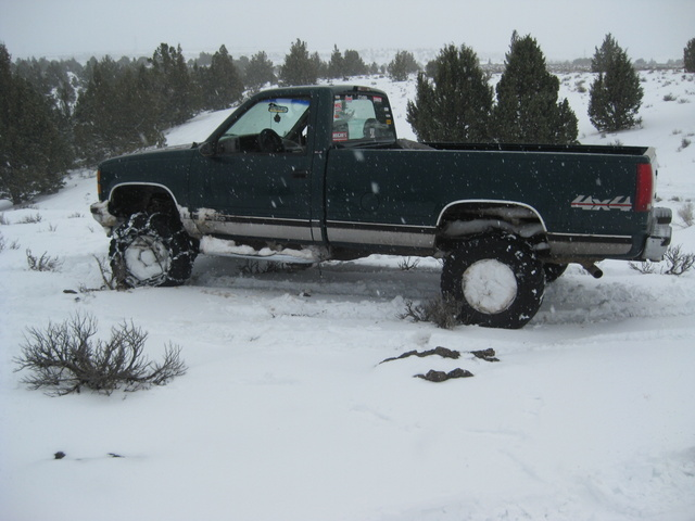 1995 GMC Sierra C/K 1500, TBI 350 bored .030 over with Keith Black pistons, ARP Rod bolts, Clevit 77 bearings, Melling high volume oil pump, ARP oil pan stud kit, Upgraded cam, Double Roller timing se...