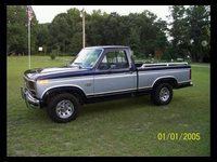 1984 Ford F-150, When I first bought the truck, Before I did any major changes, Oringal paint, exterior