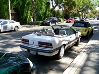 1991 Pontiac Sunbird 2 Dr LE Convertible, Chloe again in West Hollywood, California, exterior