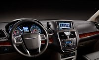 2011 Chrysler Town & Country, Steering wheel and navigation system., interior, manufacturer
