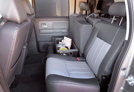 2011 Ram Dakota, Back Seat., interior, manufacturer