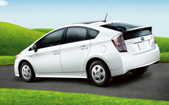 2011 Toyota Prius, Back three quarter view. , manufacturer, exterior