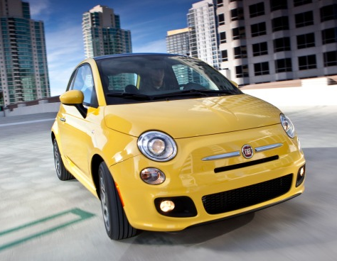 2012 Fiat 500, Front View. , exterior, manufacturer