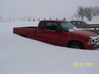 1997 Chevrolet S-10 2 Dr LS Extended Cab SB, my truck buried in a snow drift, exterior
