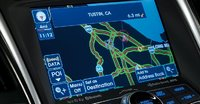 2011 Hyundai Sonata Hybrid, Close-up of Navigation Screen., interior, manufacturer