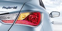 2011 Hyundai Sonata Hybrid, Close-up of tail lights., exterior, manufacturer