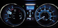 2011 Hyundai Sonata Hybrid, Close-up of Instrument Gages. , interior, manufacturer