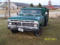 1978 Ford F-350, 1973 Ford F350 with hydraulic dumping bed, exterior