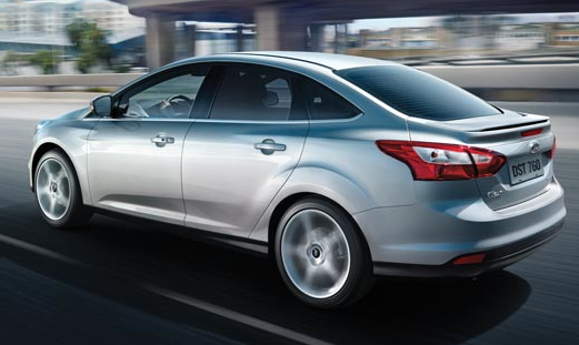2012 Ford Focus, Back View. , manufacturer, exterior