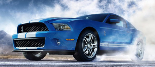 2012 Ford Shelby GT500, Front quarter view. , exterior, manufacturer