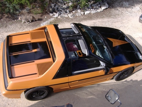 1985 Pontiac Fiero GT, Painted in 1972 corvette orange metallic, by owner, exterior, gallery_worthy